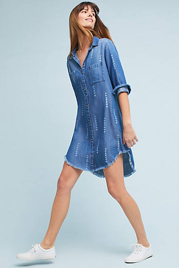 Cloth & Stone Raw-Hem Shirtdress