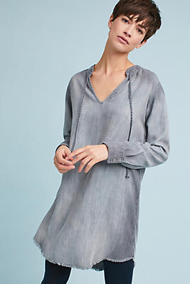 Slide View: 1: Cloth & Stone Tie-Neck Shirtdress