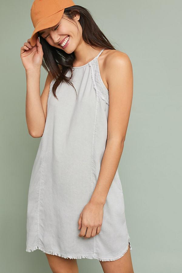 Cloth & Stone Halter Dress - Grey, Size Xl