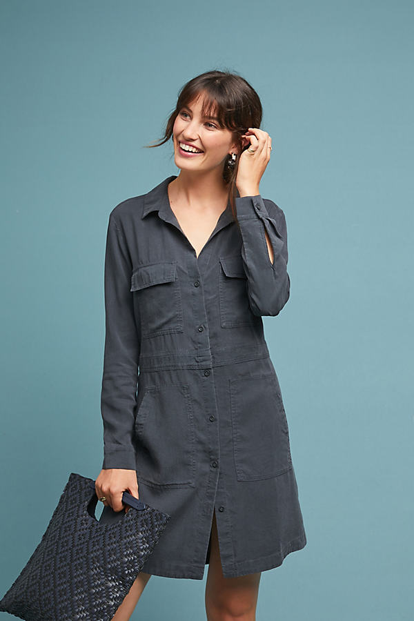 Cloth & Stone Utility Shirtdress - Black, Size S