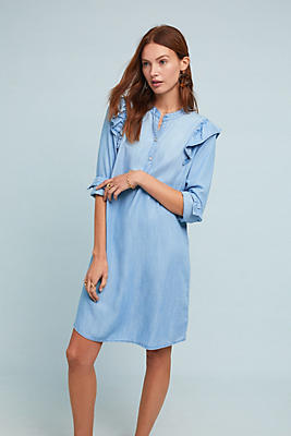 Slide View: 1: Cloth & Stone Ruffled Shirtdress