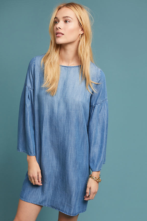 Cloth & Stone Perrie Chambray Dress - Blue, Size M