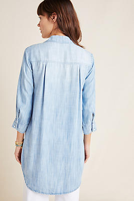 Slide View: 1: Cloth & Stone Benicia Chambray Shirtdress