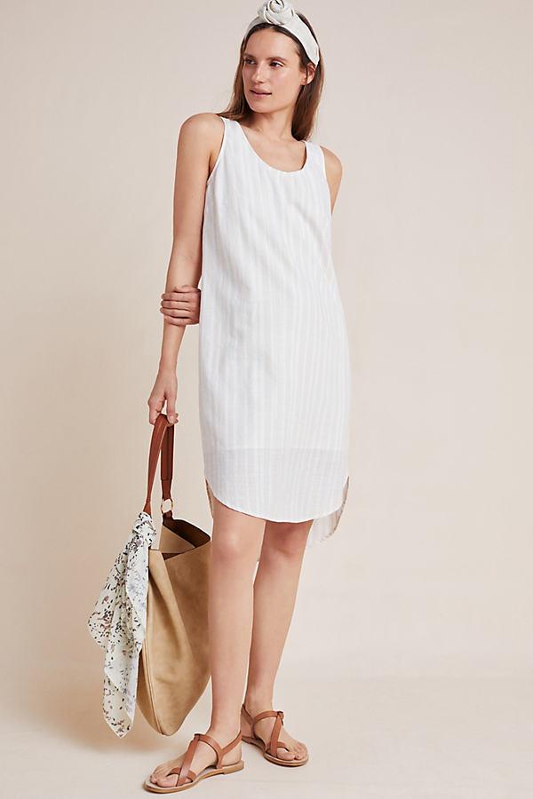 Cloth & Stone Bow-Tied Chambray Dress - Neutral Motif, Size Xs