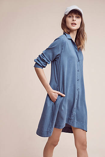 Farryn Laced-Back Shirtdress