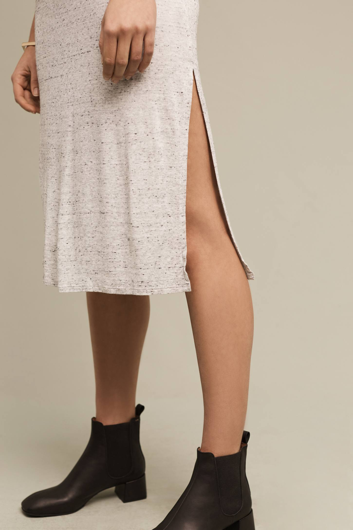 Slide View: 2: Marled T-Shirt Dress