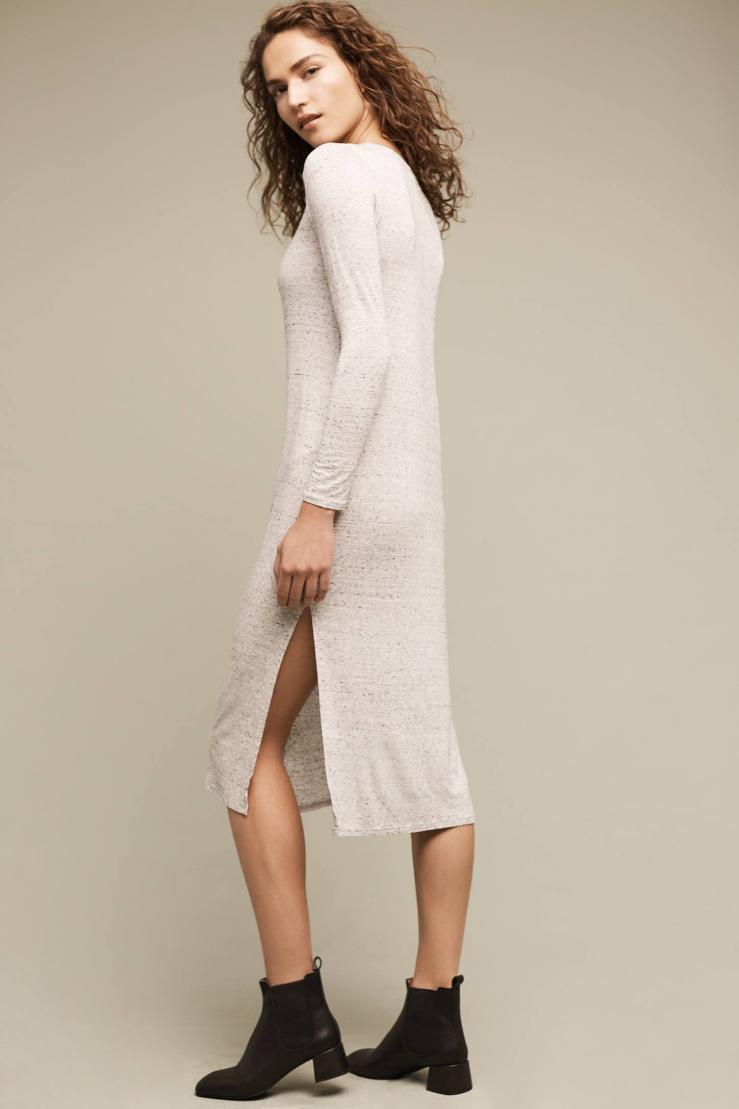 Slide View: 3: Marled T-Shirt Dress