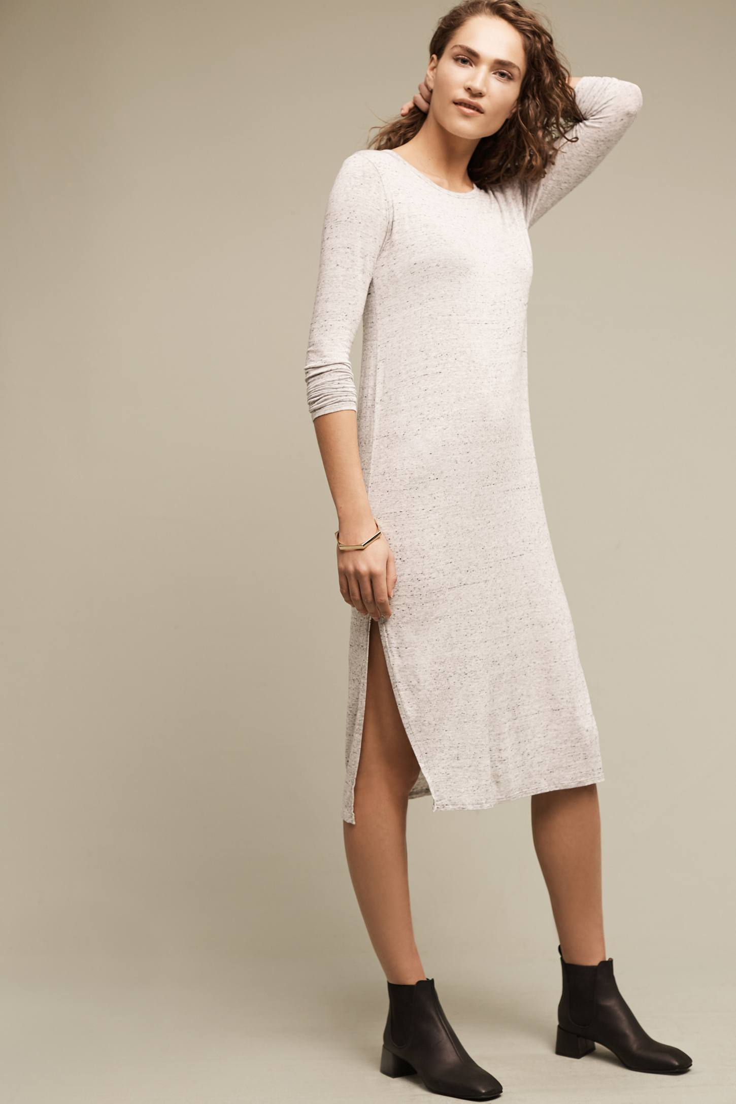 Slide View: 1: Marled T-Shirt Dress