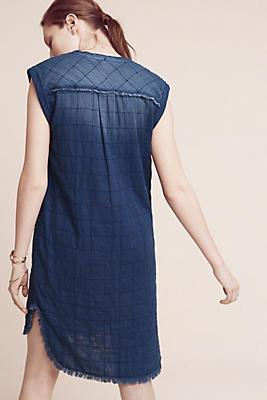 Slide View: 1: Frayed Tunic Dress