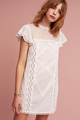 Slide View: 1: Fayette Lace Mini Dress