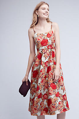 Slide View: 1: Red Rose Dress