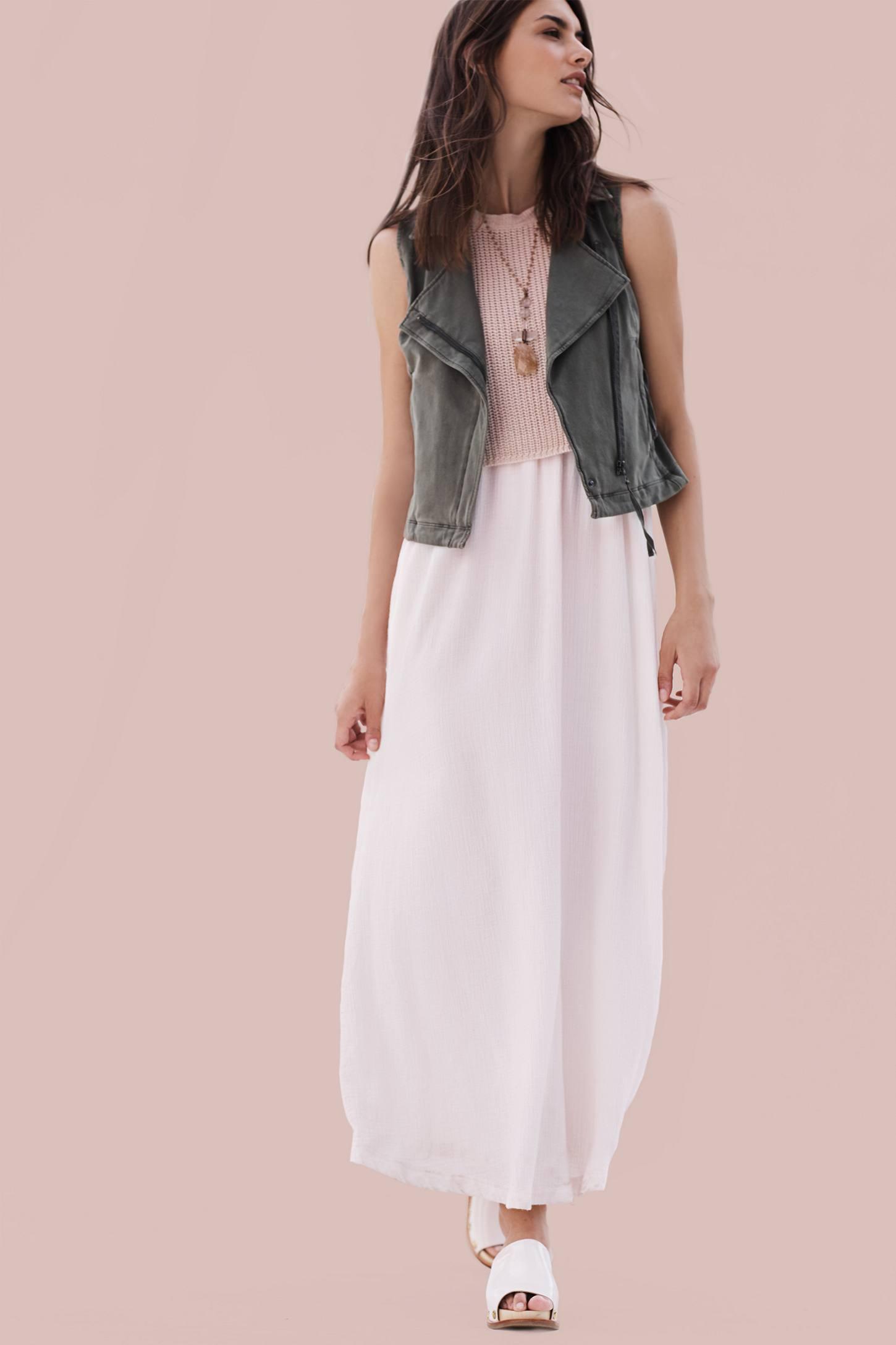 Layered Sandstone Maxi Dress   Anthropologie