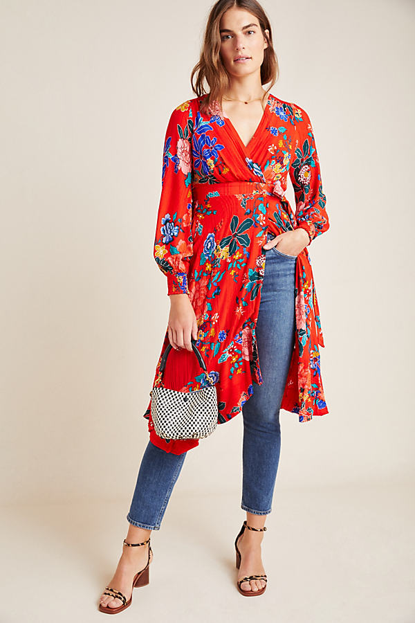 Boswell Textured Wrap Tunic - Assorted, Size Uk 10