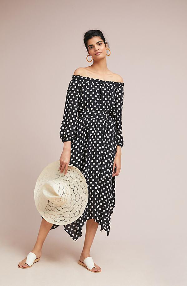 Gerti Polka Dot Midi Dress - Assorted