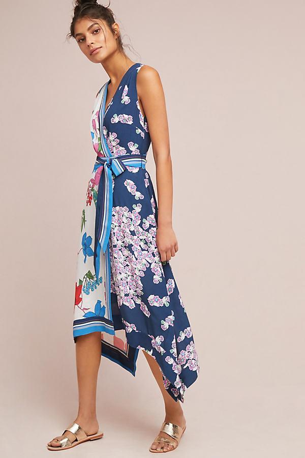 Botanica Wrap Dress - Blue Motif