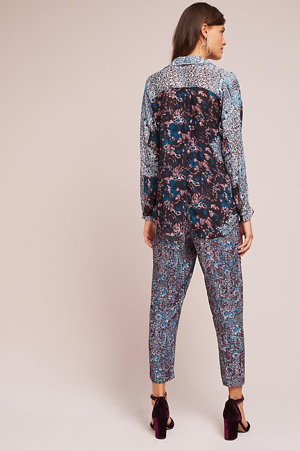 Slide View: 5: Hallie Woven Twist Front Jumpsuit