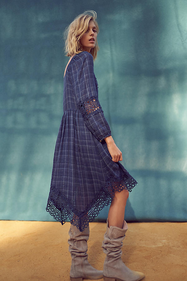 Slide View: 5: Plaid Kerchief Dress