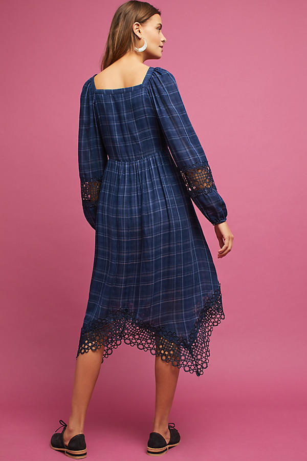 Slide View: 4: Plaid Kerchief Dress