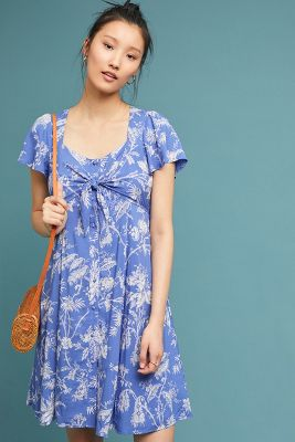 Jill Flutter Sleeve Dress by Maeve