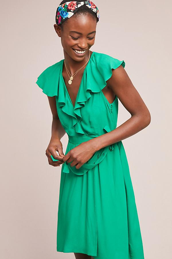 Rosalia Wrap Dress - Green