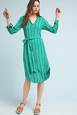 Slide View: 1: Martina Belted Shirtdress
