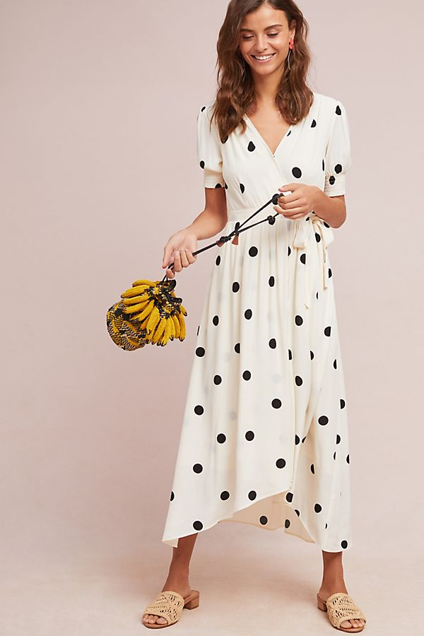 Slide View: 3: Breanna Polka Dot Wrap Dress