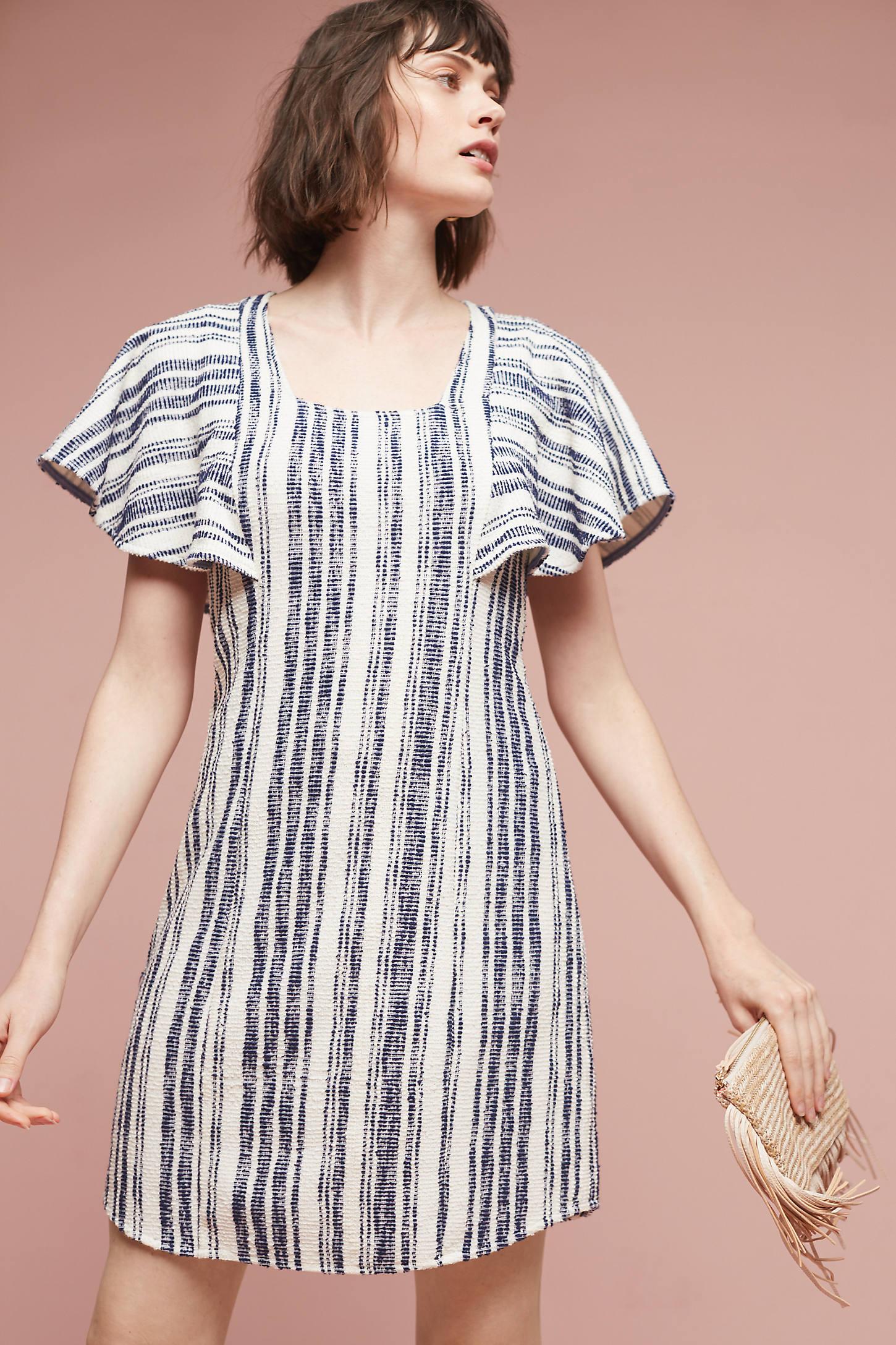 Jovanie Ruffled-Sleeve Tunic Dress