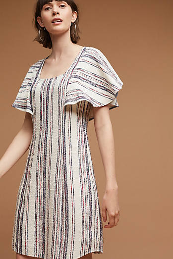 Jovanie Ruffled-Sleeve Tunic Dress