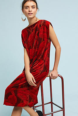 Slide View: 1: WHIT Velvet Bird Dress