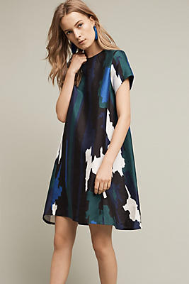 Abstract Printed Swing Dress