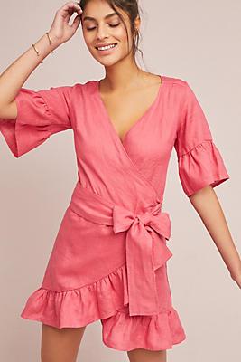 Slide View: 1: Talulah Linen Wrap Dress