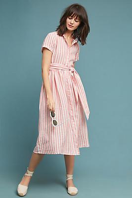 Slide View: 1: Longport Linen Shirtdress