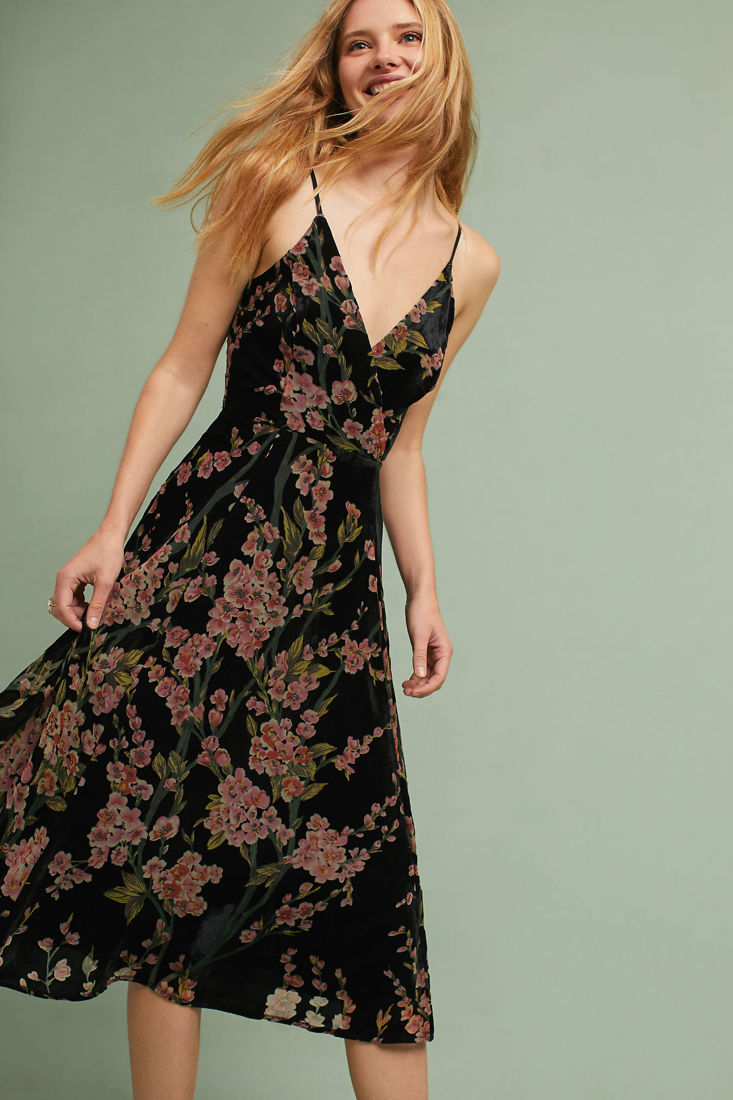 Floral Burnout Slip Dress