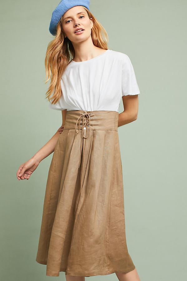 Grace Corseted Dress - White, Size Xl