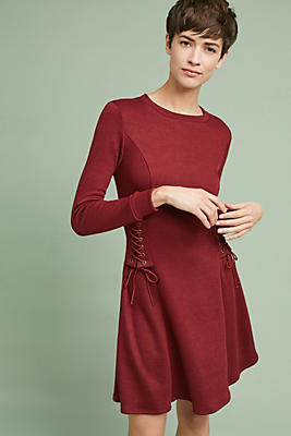 Slide View: 1: Cozy Corseted Dress