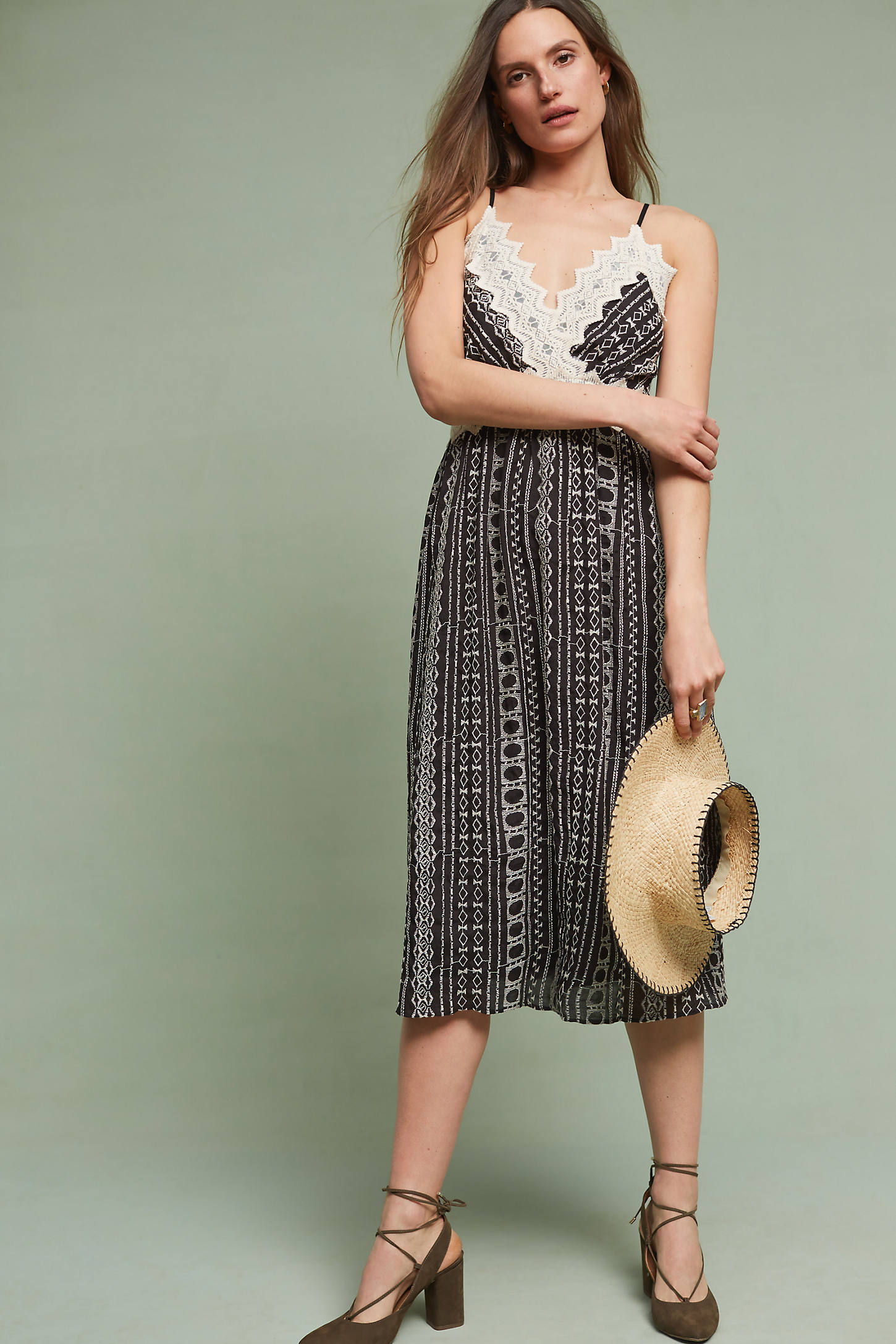 Delphine Lace Slip Dress