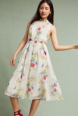 Slide View: 1: Larietta Floral Midi Dress