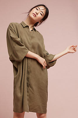 Slide View: 1: Cocoon Shirtdress