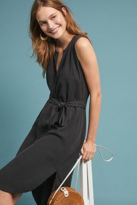 Belted Silk Midi Dress by Go By Go Silk