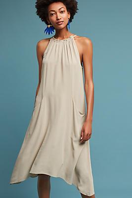 Slide View: 1: Sierra Silk Halter Dress