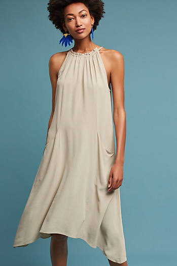 Sierra Silk Halter Dress