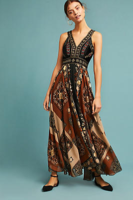 Slide View: 1: Shenia Embroidered Maxi Dress