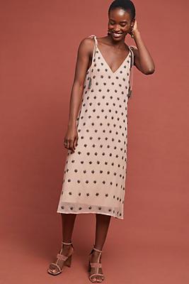 Slide View: 2: Beaded Slip Dress