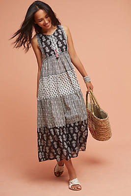Slide View: 1: Tiered Peasant Dress