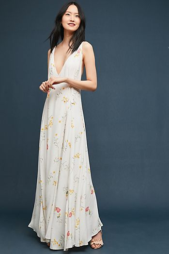 Wedding guest dresses anthropologie josephine wrapped maxi dress junglespirit