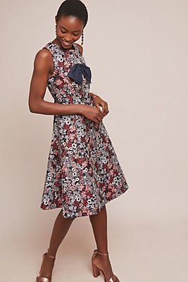 Slide View: 1: Bow-Tied Floral Dress