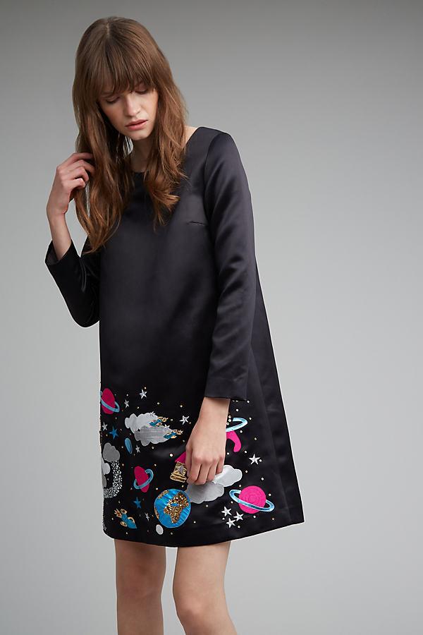 Russo Constellation Dress - Black, Size Uk 6