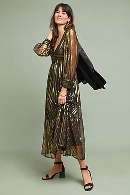 Slide View: 1: Antik Batik Chai Striped Dress