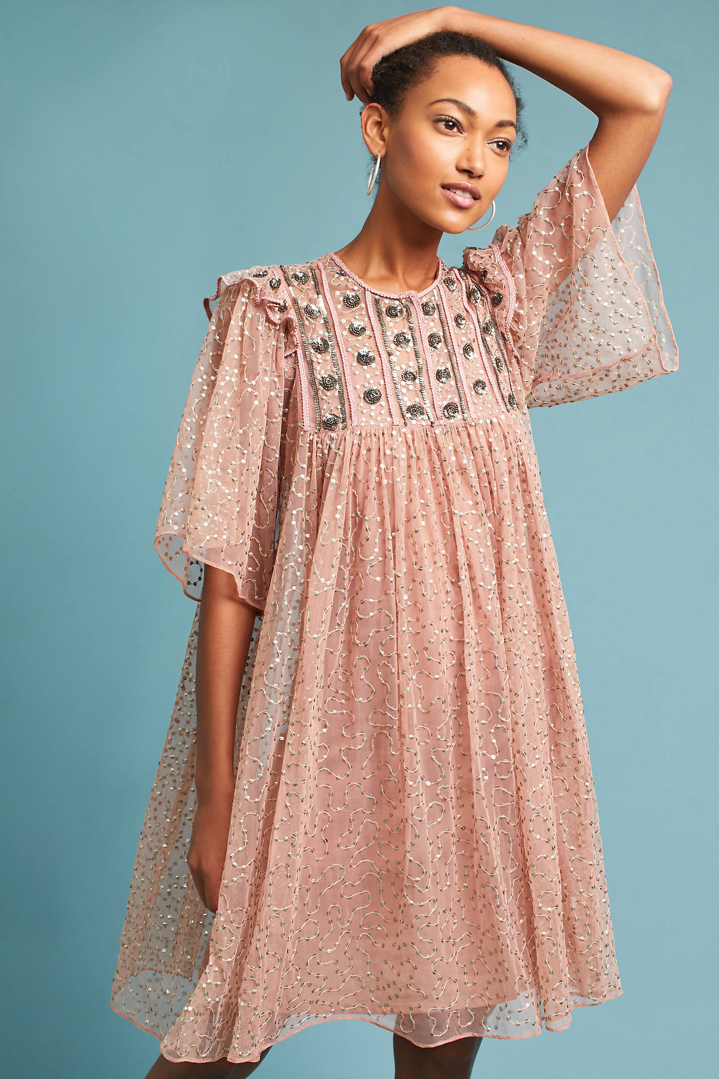 Antik Batik Petite Beaded & Embroidered Dress