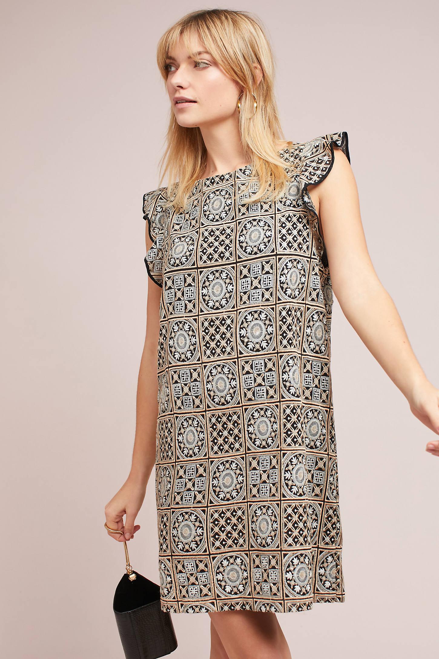 Antik Batik Petite Metallic Tile Dress